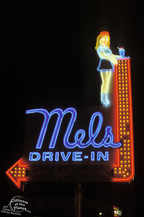 Mels Drive-In, Hollywood, Los Angeles, California