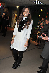 TV presenter OLIVIA GODFREY at the 2012 Hennessy Gold Cup at Newbury Racecourse, Berkshire on 1st December 2012