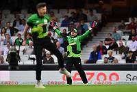Cricket - 2021 Inaugural The Hundred: Men - The Eliminator - Southern Brave vs Trent Rockets - The Kia Oval - Friday 20th August 2021<br /> <br /> Southern Braves' Quinton de Kock catches Trent Rockets' Alex Hales off the bowling of George Garton.<br /> <br /> COLORSPORT/Ashley Western