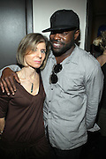 l to r: Jill Newman and BlackThought(ROOTS) backstage at The ROOTS Present the Jam Produced by Jill Newman Productions on March 19, 2009 held at Highline Ballroom in New York City.