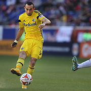 Justin Meram, Columbus Crew, in action during the New York Red Bulls Vs Columbus Crew, Major League Soccer regular season match at Red Bull Arena, Harrison, New Jersey. USA. 19th October 2014. Photo Tim Clayton