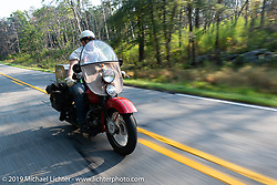 Roger Green riding his 1937 Harley-Davidson ULH Flathead in the Cross Country Chase motorcycle endurance run from Sault Sainte Marie, MI to Key West, FL. (for vintage bikes from 1930-1948). Stage-6 from Chattanooga, TN to Macon, GA USA covered 258 miles. Wednesday, September 11, 2019. Photography ©2019 Michael Lichter.