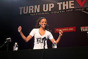 """Ciara at The Hip Hop Research and Education Fund(HREF), PowerPAC and the HipHop Summit Action Network (HSAN) present the national """"HipHop Team Vote: Turn Up the Vote"""" campaign event held at Temple University's Liacouras Center Arena on April 20, 2008 ..The HipHop Team Voe: Turn up the Vote brings together hiphop stars and community activists to send a strong, clear message to 18-35 year olds about the importance of voting in the Pennsylvania primary and national presidential election."""