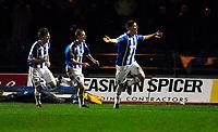 Photo: Alan Crowhurst.<br />Brighton & Hove Albion v Swansea City. Coca Cola League 1. 05/12/2006. Brighton's Alex Revell (R) celebrates his first goal 2-1.