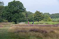 HILVERSUM -  hole 10.  Met  het nieuwe clubhuis . Hilversumsche Golf Club, COPYRIGHT  KOEN SUYK