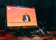 © Licensed to London News Pictures. 09/03/2013. Brighton, UK. Paddy Ashdown Chair of the Liberal Democrats 2015 General Election Team on a TV monitor  at the Liberal Democrat Spring Conference in Brighton today 9th March 2013. Photo credit : Stephen Simpson/LNP