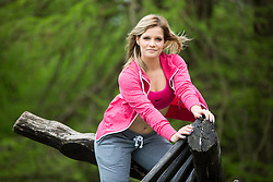 Robyn Strmsek posing during official photo shoot of Miss Sporta Slovenije 2016, on April 23, 2016 in Tivoli, Ljubljana, Slovenia. Photo by Vid Ponikvar / Sportida