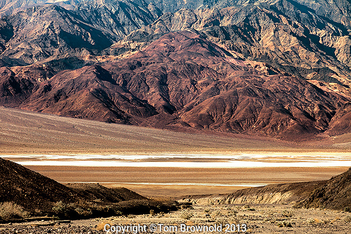 Views from the Artist loop drive. Looking out to Salt Creek and the base of the Panamint mountians.
