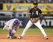 CHICAGO - JULY 31:  Tim Anderson #7 of the Chicago looks on against the New York Mets on July 31, 2019 at Guaranteed Rate Field in Chicago, Illinois.  (Photo by Ron Vesely)  Subject:   Tim Anderson