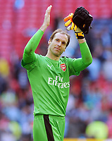 Football - 2016 / 2017 Emirates FA Cup - Semi-Final: Arsenal vs. Manchester City<br /> <br /> Arsenal goalkeeper Petr Cech, celebrates at the final whistle of extra time at Wembley.<br /> <br /> COLORSPORT/ANDREW COWIE