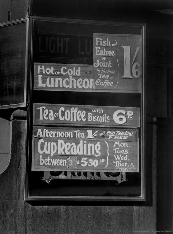 Tea Cup Reading, Melbourne, Australia, 1930