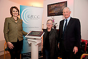 At the opening of Galway Rape Crisis Centre's new premises by Garry Hynes of Druid (and newly appointed Patron) of the GRCC were Aoibheann McCann ,  Ms Garry Hynes of Druid and Stephen Mackey, (Chairperson) . Picture:Andrew Downes.
