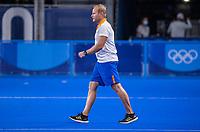 TOKIO -  coach Sjoerd Marijne (IND) na de wedstrijd dames , Nederland-India (5-1) tijdens de Olympische Spelen   .   COPYRIGHT KOEN SUYK