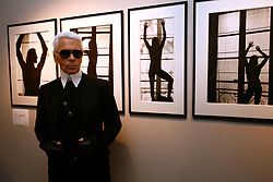 German designer/photographer Karl Lagerfeld attends the opening of his photo exhibition held during the 'Transphotographiques' Festival at the Tri Postal in Lille, northern France on June 12, 2008. Photo by Mikael Libert/Asa Pictures/ABACAPRESS.COM