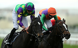 Burford Brown ridden by jockey James Doyle (left) winning the Ascot Supports Racing Charities Handicap during Royal Ascot Trials Day at Ascot Racecourse.