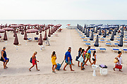 Daily life at the San Francesco beach in Bari on 2 August 2019. Christian Mantuano / OneShot