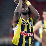 Fenerbahce Ulker's James GIST during their Two Nations Cup basketball match Fenerbahce Ulker between Olimpiakos at Abdi Ipekci Arena in Istanbul Turkey on Saturday 01 October 2011. Photo by TURKPIX