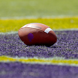 October 1, 2011; Baton Rouge, LA, USA;  A detailed view of a LSU Tigers football in the endzone during the second quarter of a game against the Kentucky Wildcats at Tiger Stadium.  Mandatory Credit: Derick E. Hingle-US PRESSWIRE / © Derick E. Hingle 2011