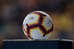 October 20, 2018 - Vila-Real, Castellon, Spain - Official La Liga match ball during the La Liga match between Villarreal CF and Atletico de Madrid at Estadio de la Ceramica on October 20, 2018 in Vila-real, Spain  (Credit Image: © David Aliaga/NurPhoto via ZUMA Press)