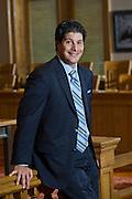 Portrait of lawyer J. R. Carroll in Fayetteville, Arkansas.