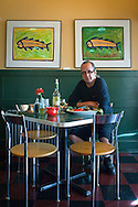 Kerry A. Altiero chef and owner of Cafe Miranda, Rockland, Maine. Is a regular customer of Port Clyde Fresh Catch.