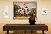 A Cheetah and a stag and Two Indian Attendants 1764 by George Stubbs - Artist and Empire - a new Tate Britain exhibition about Imperial visual culture, examining the people who helped to create or confront the British Empire in their art. It features over 200 paintings, drawings, photographs, sculptures and artefacts from across the British Isles, North America, the Caribbean, the Pacific, Asia and Africa. Exhibition highlights include: Major historic paintings by the likes of Johan Zoffany, George Stubbs, Lady Butler Anthony Van Dyck and Thomas Daniell; Rare Maori portraits which are being exhibited in London for the first time in almost 100 years; The first chance to photograph one of the nation's favourite paintings, The North-West Passage 1874 by John Everett Millais since undergoing new conservation; and new work by artist Andrew Gilbert, made especially for the exhibition. Artist and Empire at Tate Britain from 25 November 2015 to 10 April 2016.