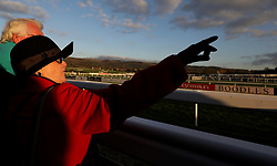 General view of a spectators during the Foundation Developments Ltd Maiden Hurdle Race during day one of the Showcase at Cheltenham Racecourse