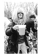 Ding Boston at a May morning party. Oxford. 1983 approx. © Copyright Photograph by Dafydd Jones 66 Stockwell Park Rd. London SW9 0DA Tel 020 7733 0108 www.dafjones.com