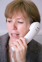 Woman on the phone,