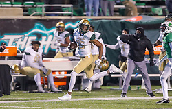 Dec 18, 2020; Huntington, West Virginia, USA; UAB Blazers wide receiver Trea Shropshire (15) catches a pass and runs for a touchdown during the fourth quarter against the Marshall Thundering Herd at Joan C. Edwards Stadium. Mandatory Credit: Ben Queen-USA TODAY Sports
