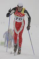 OL 2006 Langrenn menn 15km,<br />Pragelato Plan<br />17.02.06 <br />Foto: Sigbjørn Hofsmo, Digitalsport <br /><br />Anders Auklandl NOR - Norge