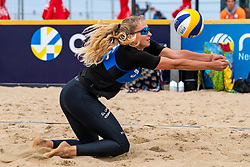 Michaela Kubickova (1) of Czech Republic in action during CEV Continental Cup Final Day 1 - Women on June 23, 2021 in The Hague