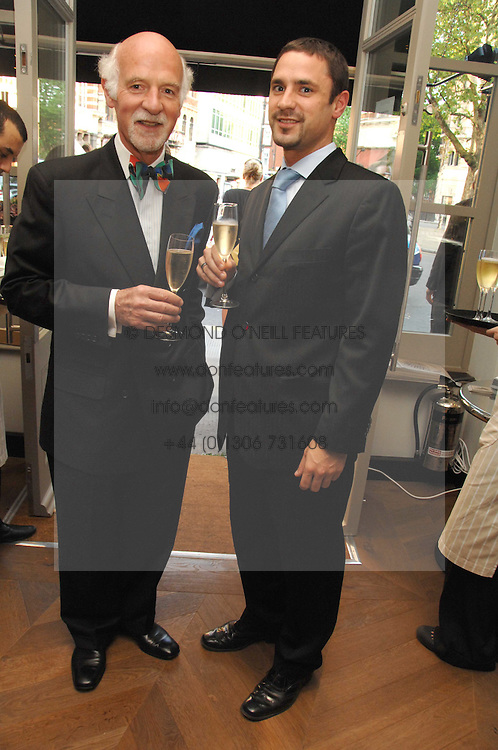 Left to right, ANTON MOSIMANN and his son MARK MOSIMANN at the opening party of the restaurant and bar The Botanist, 7 Sloane Square, London SW1 on 13th May 2008.<br /><br />NON EXCLUSIVE - WORLD RIGHTS
