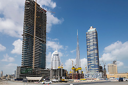 New skyscraper under construction in Dubai United Arab Emirates