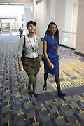 April 17, 2012 Washington, D.C: (L-R) Nialah Edari, Midwest Regional Youth Director, and Victoria Pannell, Northeast Youth Director, NAN Youth Move attend Rev. Al Sharpton's  2012 National Action Network Convention held at the Walter E. Washington Convention Center from April 11-14, 2012 in Washington, D.C ..National Action Network (NAN) is one of the leading civil rights organizations in America and is at the forefront of the social justice movement, confronting issues such as police misconduct and abuse, voter rights, education, workers' right, healthcare awareness, anti-violence and more. Founded in New York City in 1991 by Rev. Al Sharpton and a group of activists, NAN is committed to the principles of nonviolent activism and civil disobedience as a direct outgrowth of the movement that was lead by the Rev. Dr. Martin Luther King, Jr. .(Photo by Terrence Jennings).