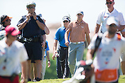 Jordan Spieth walks to the tee box during the final round of the AT&T Byron Nelson in Las Colinas, Texas on May 31, 2015. (Cooper Neill for The New York Times)