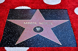 Minnie Mouse honored with a Star on The Hollywood Walk of Fame in Celebration of her 90th Anniversary at El Capitan Theatre on January 22, 2018 in Los Angeles, California. Photo by Lionel Hahn/ABACAPRESS.COM