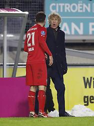 (L-R) coach Gertjan Verbeek of FC Twente, Danny Holla of FC Twente, during the Dutch Eredivisie match between NAC Breda and FC Twente Enschede at the Rat Verlegh stadium on December 12, 2017 in Breda, The Netherlands