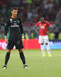 August 8, 2017 - Skopje, Macedonia - Real Madrid's Portuguese forward Cristiano Ronaldo during the UEFA Super Cup football match between Real Madrid and Manchester United on August 8, 2017, at the Philip II Arena in Skopje. (Credit Image: © Ahmad Mora/NurPhoto via ZUMA Press)