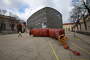 """MQ Wien (Museum Quarter, Vienna).<br /> Atelier Van Lieshout,<br /> """"Bar Rectum"""" (2005)<br /> 3/4/2010-5/2/2010<br /> The inhabitable sculptures of the Dutch artists' collective, founded 1995 by Joep van Lieshout, analyze the function and esthetics of art in public space - in a humorous way."""