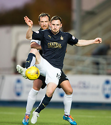 Falkirk's Lewis Small and St Mirren's Andy Webster. <br /> Falkirk 3 v 0 St Mirren. Scottish Championship game played 21/10/2015 at The Falkirk Stadium.