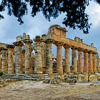 Cyrene. Libya. Image of the Greek Doric Temple of Zeus which dates originally from the 5th century BC and its size is comparable to the Parthenon in Athens Greece.