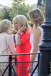 Brigitte Macron, wife of French President Emmanuel Macron and Melania Trump,U.S First Lady during a visit on traditional Basque culture in Espelette, near Biarritz as part of the G7 summit.August 25, 2019. Photo by Thibaud Moritz/ABACAPRESS.COM