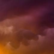 Sunset storm clouds, Idaho