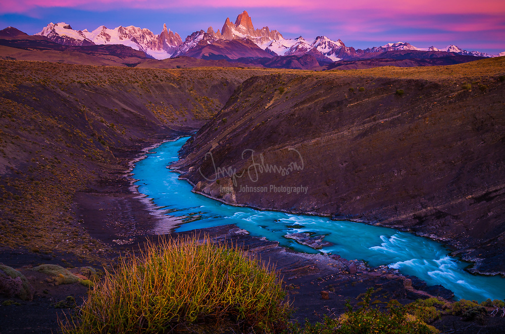 Monte Fitz Roy (also known as Cerro Chaltén, Cerro Fitz Roy, or simply Mount Fitz Roy) is a mountain located near El Chaltén village, in the Southern Patagonian Ice Field in Patagonia, on the border between Argentina and Chile. First climbed in 1952 by French alpinists Lionel Terray and Guido Magnone, it remains among the most technically challenging mountains on Earth for mountaineers. Monte Fitz Roy is the basis for the Patagonia clothing logo following Yvon Chouinard's ascent and subsequent film in 1968.