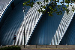The SECC (Scottish Exhibition and Conference Centre), located on the north bank of the River Clyde, Glasgow, Scotland, UK.