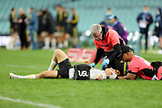 Ruben Love with the Doctors. Waratahs v Hurricanes. 2021 Super Rugby Trans Tasman Round 1 Match. Played at Sydney Cricket Ground on Friday 14 May 2021. Photo Clay Cross / photosport.nz