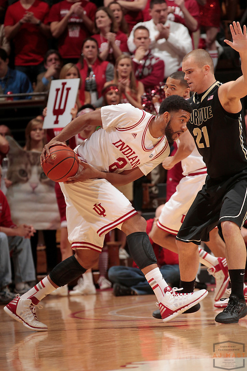 04 March 2012: Indiana Forward Christian Watford (2)  as the Indiana Hoosiers played the Purdue Boilermakers in a college basketball game in Bloomington, Ind.