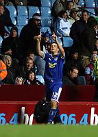 Photo: Mark Stephenson.<br /> Aston Villa v Leicester City. Carling Cup. 26/09/2007.Leicester's Matt Fryatt celebrates his goal