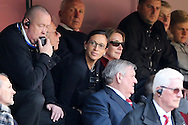 Katrien Meire, Charlton Athletic Chief Executive (c) looks on from the stand. Skybet football league championship match, Charlton Athletic v Brighton & Hove Albion at The Valley  in London on Saturday 23rd April 2016.<br /> pic by John Patrick Fletcher, Andrew Orchard sports photography.